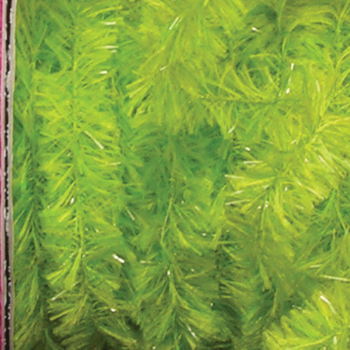 """Lime Green Fuzzy Boa Party Garland 0.75"""" x 55 Yards - IMAGE 1"""