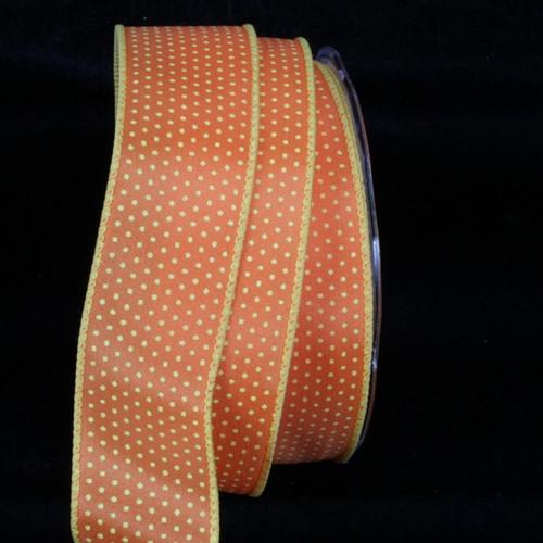 "Yellow and Orange Wired Craft Ribbon 1.5"" x 54 Yards - IMAGE 1"