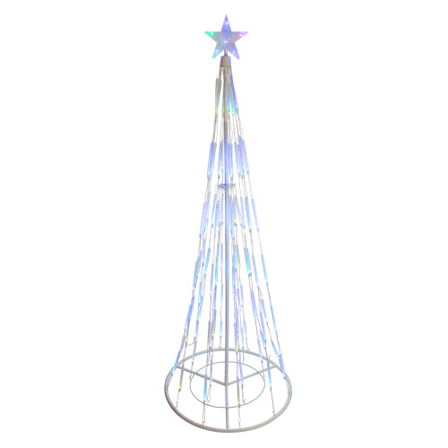 6 Color Changing Led Bubble Light Cone Tree Outdoor Christmas Decoration 31736747