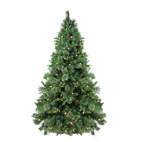 7.5' Pre-Lit Medium Mixed Cashmere Pine Artificial Christmas Tree - Warm White LED Lights - IMAGE 1
