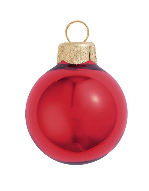 "2ct Red Glass Shiny Christmas Ball Ornaments 6"" (150mm) - IMAGE 1"