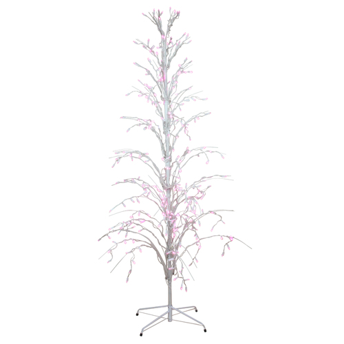 4' Pink LED Lighted Christmas Cascade Twig Tree Outdoor Decoration - IMAGE 1