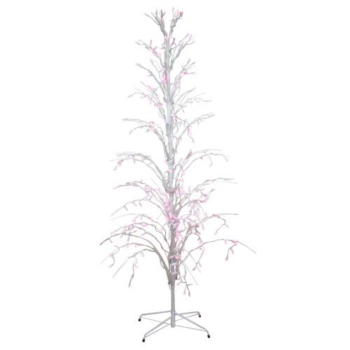 Northlight Seasonal 9 Purple LED Lighted Halloween Cascade Twig Tree Outdoor Yard Art Decoration