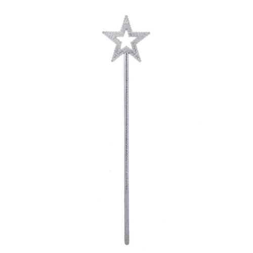 """13.25"""" White and Silver Glitter Ice Palace Star Christmas Pick - IMAGE 1"""