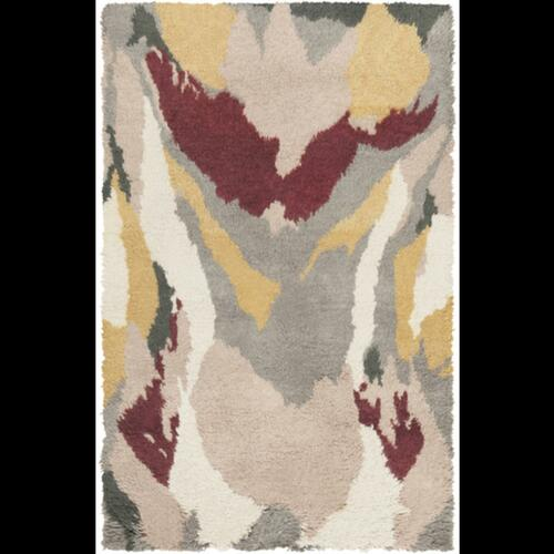 5' x 8' Gray and Brown Hand Tufted Plush Wool Area Throw Rug - IMAGE 1