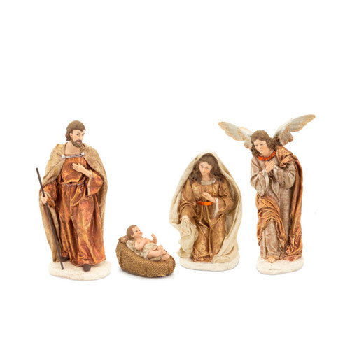 """4 Piece Ivory and Brown Christmas Nativity Set Figurines 11.5"""" - IMAGE 1"""