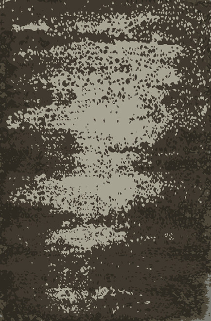 8' x 11' Mink Gray and Ivory Distressed Hand Knotted Rectangular Area Throw Rug - IMAGE 1