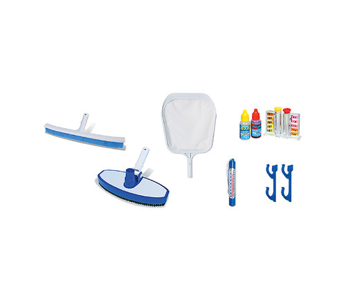 """18"""" Blue and White 6-Pieces Swimming Pool Maintenance Kit - IMAGE 1"""