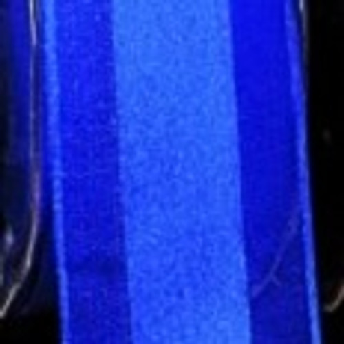 "Royal Blue Striped Organdy Margaritte Craft Ribbon 1"" x 60 Yards - IMAGE 1"