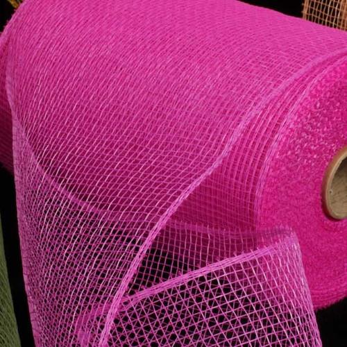 """Fuchsia Pink Decorating Mesh Craft Ribbon 6.5"""" x 120 Yards - IMAGE 1"""