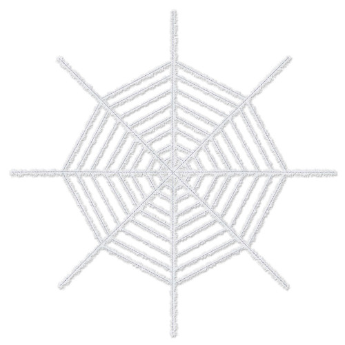 Club Pack of 12 Giant White Shimmering Spider Web Halloween Decorations 6' - IMAGE 1