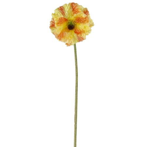"""34"""" Orange Poppy Long Stem Flower Artificial Spring Floral Pick - IMAGE 1"""