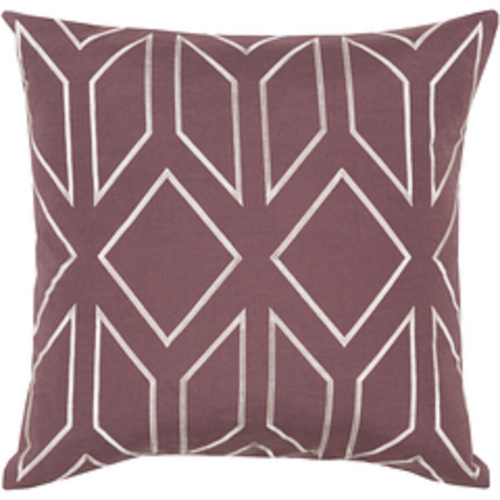 """20"""" Purple and White Contemporary Square Throw Pillow - IMAGE 1"""