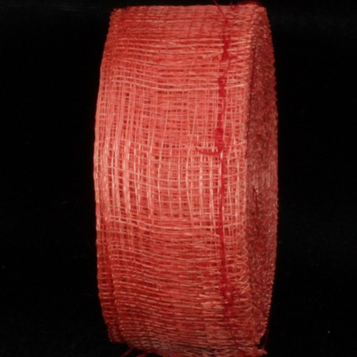 """Classic Red Fiber Wired Craft Ribbon 1.5"""" x 96 Yards - IMAGE 1"""