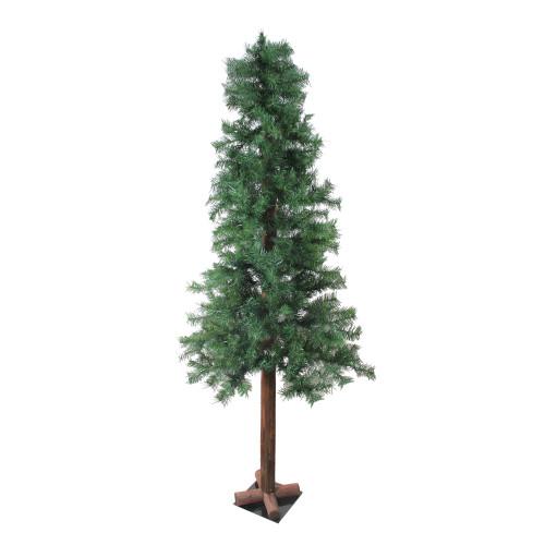 6' Mixed Green Woodland Alpine Artificial Christmas Tree - Unlit - IMAGE 1