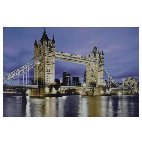 "LED Lighted Famous London Bridge Canvas Wall Art 15.75"" x 23.5"" - IMAGE 1"