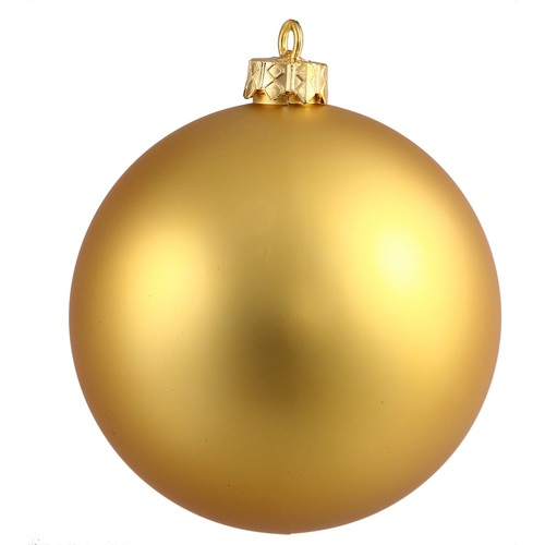 "Matte Gold Shatterproof Christmas Ball Ornament 2.75"" (70mm) - IMAGE 1"
