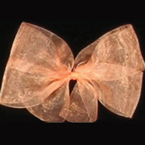 "Peach Pink Solid Organdy Craft Ribbon 4"" x 55 Yards - IMAGE 1"
