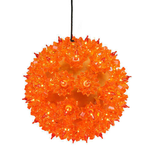 5 Amber Orange Lighted Hanging Starlight Sphere Outdoor Christmas Decoration - IMAGE 1