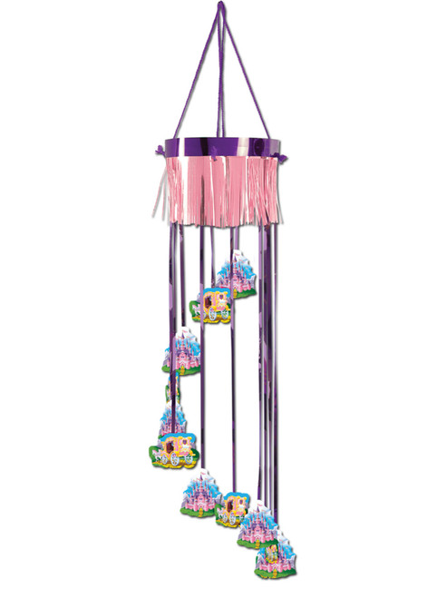 """Club Pack of 12 Pink and Purple Fairytale Princess Castle Birthday Party Spiral Hanging Decors 40"""" - IMAGE 1"""