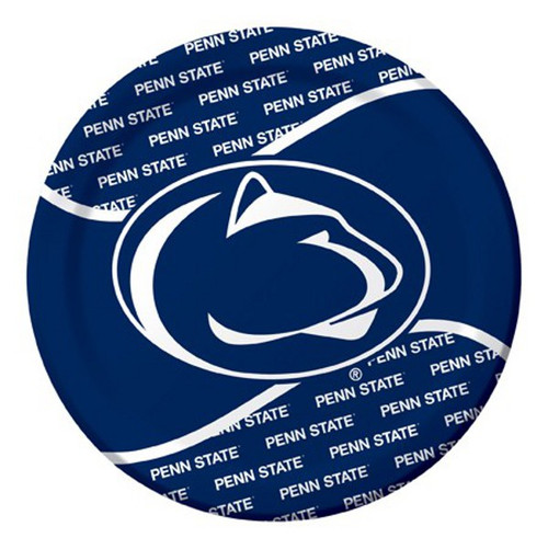 """Club Pack of 96 Blue NCAA Penn State Nittany Lions Disposable Party Luncheon Plates 8.75"""" - IMAGE 1"""