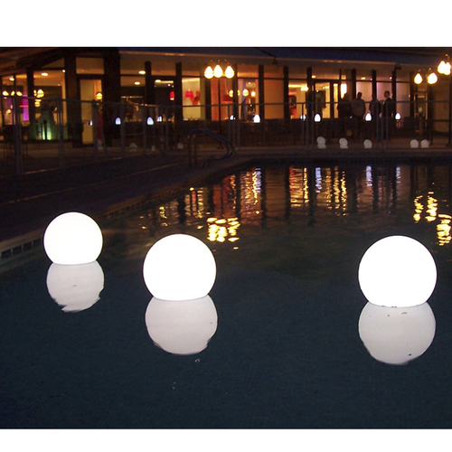 "Pack of 3 Floating Swimming Pool Choose-A-Color Round Bubble Light 10"" - IMAGE 1"