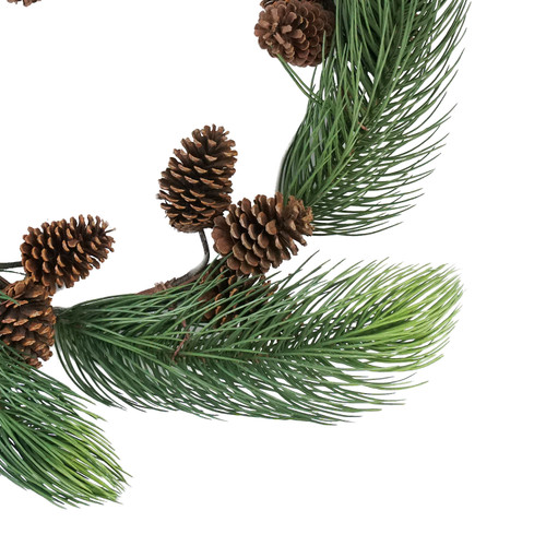 Long Pine Needle Artificial Christmas Wreath 30 Inch Unlit Christmas Central