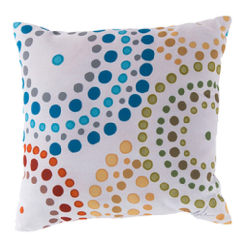 """20"""" Blue and Red Nautica Shower Bursts Square Throw Pillow Cover - IMAGE 1"""