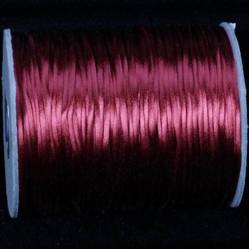 "Rusty Red Solid Satin Cording Craft Ribbon 0.25"" x 144 Yards - IMAGE 1"