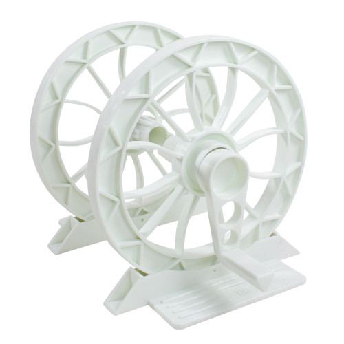 2pc White Inground Pool Resin Solar Reel System - IMAGE 1