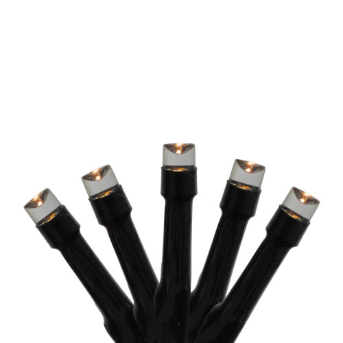 Set of 96 Twinkling Warm White LED Christmas Lights - Connect 24V Extension Set - Black Wire - IMAGE 1