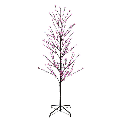 6' Enchanted Garden LED Lighted Cherry Blossom Flower Tree - Pink Lights - IMAGE 1