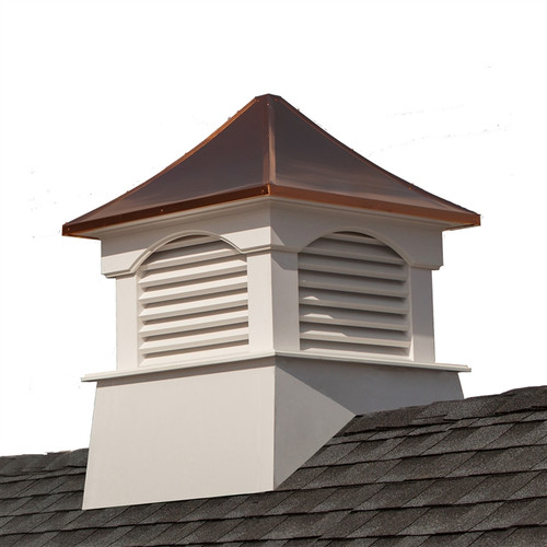 """35"""" Bronze and White Outdoor Coventry Cupola with Roof - IMAGE 1"""