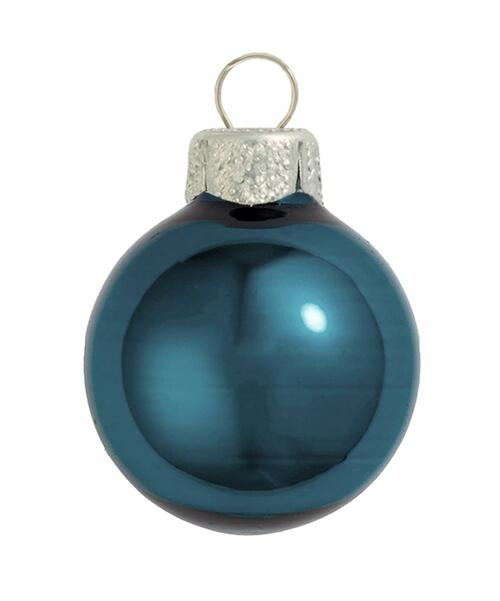 "40ct Marine Blue Pearl Glass Christmas Ball Ornaments 1.5"" (40mm) - IMAGE 1"