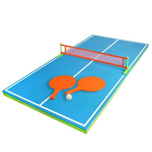 """54"""" Blue and Green Floating Ping-Pong Table Swimming Pool Game - IMAGE 1"""