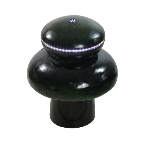 "26"" Green Mushroom Lighted LED Outdoor Garden Water Fountain - IMAGE 1"