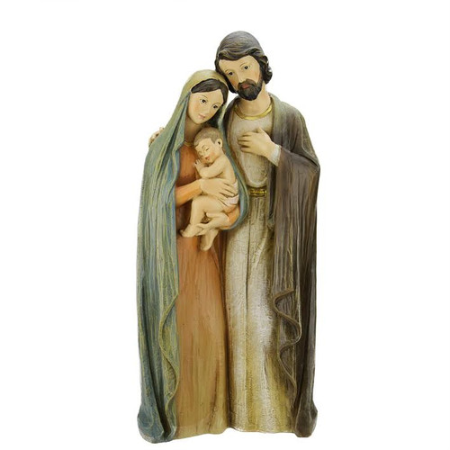 """19.25"""" Beige and Brown Religious Holy Family Christmas Nativity Figurine - IMAGE 1"""