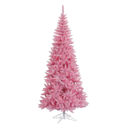 10' Pre-Lit Medium Pink Ashley Spruce Artificial Christmas Tree - Clear and Pink Lights - IMAGE 1