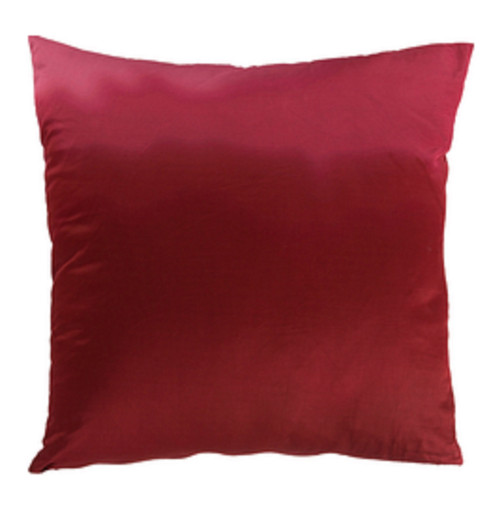 """18"""" Red Contemporary Solid Square Throw Pillow - Down Filler - IMAGE 1"""
