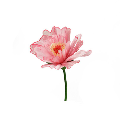 """24"""" Pink and Green Spring Floral Artificial Craft Stem - IMAGE 1"""