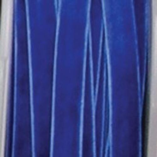 "Royal Blue Woven Edge Decorating Ribbon 0.25"" x 66 Yards - IMAGE 1"