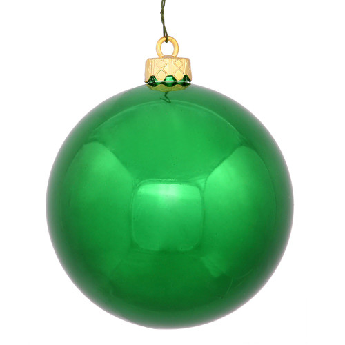 "Shiny Green Shatterproof Christmas Ball Ornament 2.75"" (70mm) - IMAGE 1"