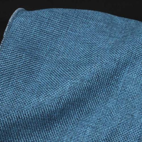 "Blue Fine Burlap Wired Craft Ribbon 6"" x 20 Yards - IMAGE 1"