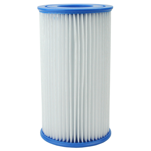 """9.75"""" White and Blue Swimming Pool Replacement Filter Cartridge - IMAGE 1"""