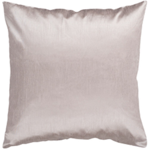"""22"""" Gray Solid Contemporary Square Throw Pillow - Down Filler - IMAGE 1"""