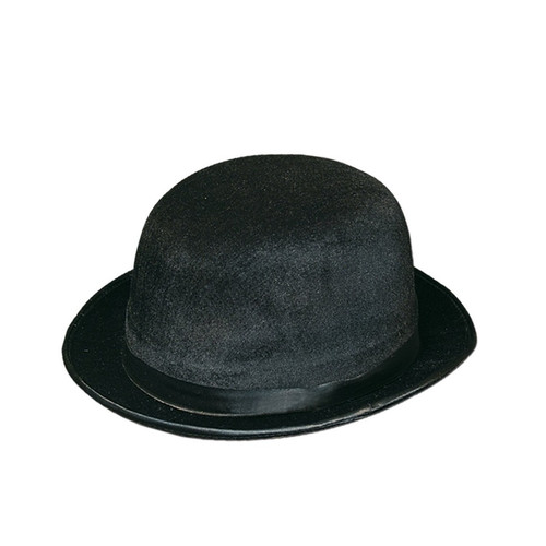 dbc4eb987 Club Pack of 12 Black Bowler/Derby Hats Halloween Costume Accessories -  31565030