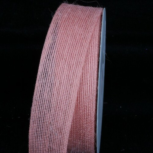"Peach Pink Woven Edge Craft Ribbon 1.5"" x 54 Yards - IMAGE 1"