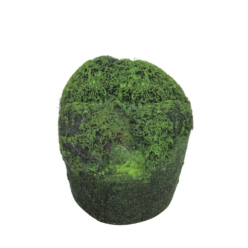 """3.5"""" Green and Black Artificial Moss Christmas Soil Planter - IMAGE 1"""