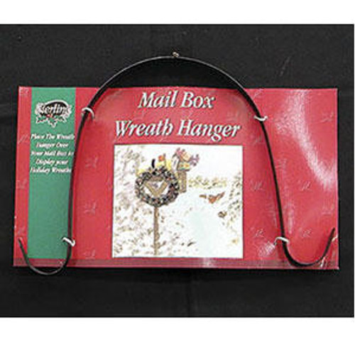 """10"""" Black Over-the-Mail Box Double Christmas Wreath Hanger - IMAGE 1"""