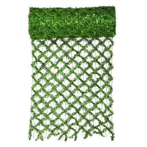 "Green Commercial Wired Mesh Garland Ribbon 12"" x 10 Yards - IMAGE 1"